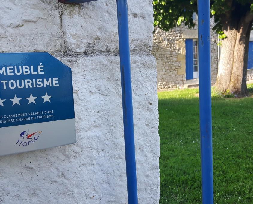 La Bastide panneau 4 etoiles gite aquitaine