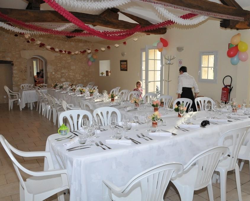 La Bastide grande salle reception jour